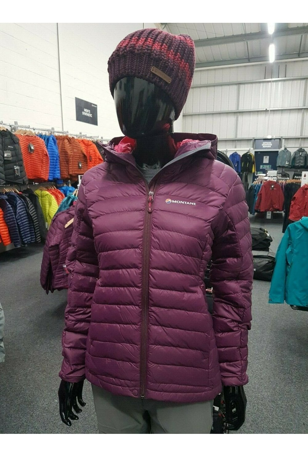 EX DISPLAY Fill Power Montane Women/'s Featherlite Down Jkt 750